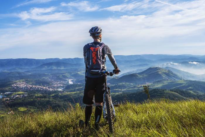 mountain biker lookout