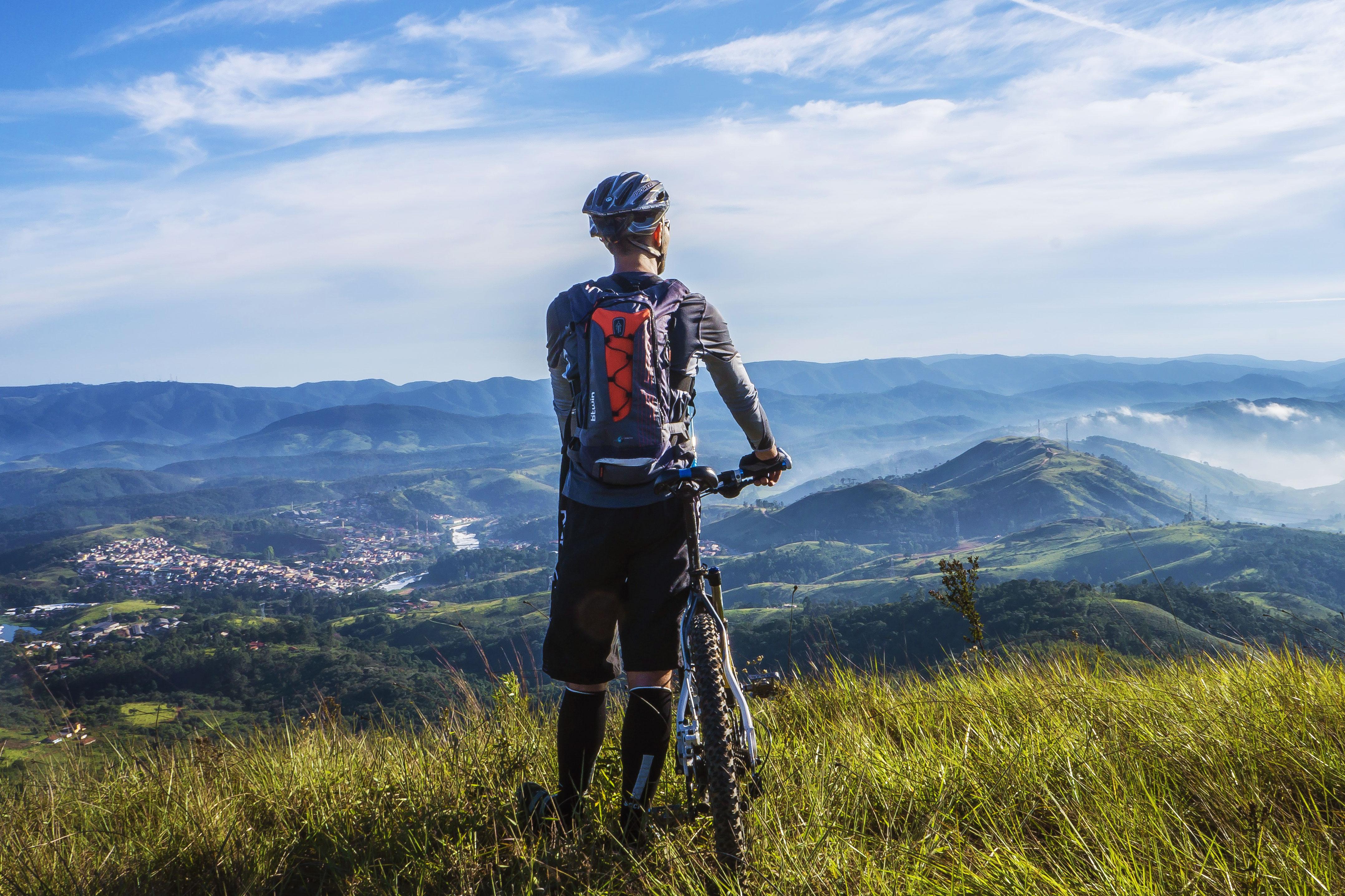 mountain biker lookout