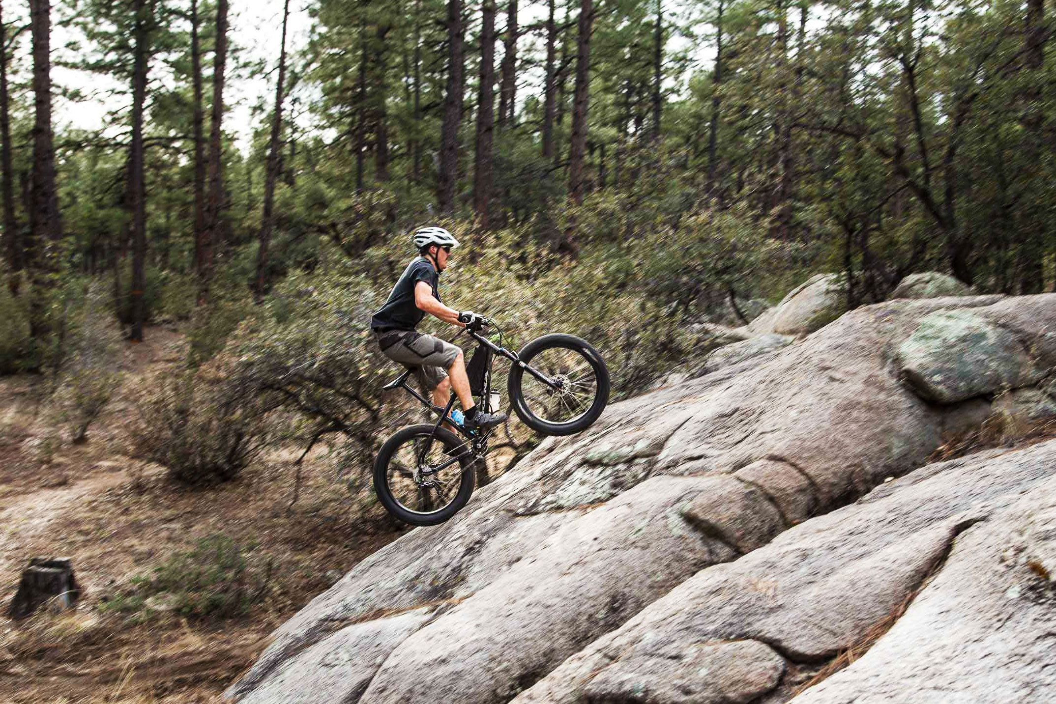 mountain biker slickrock
