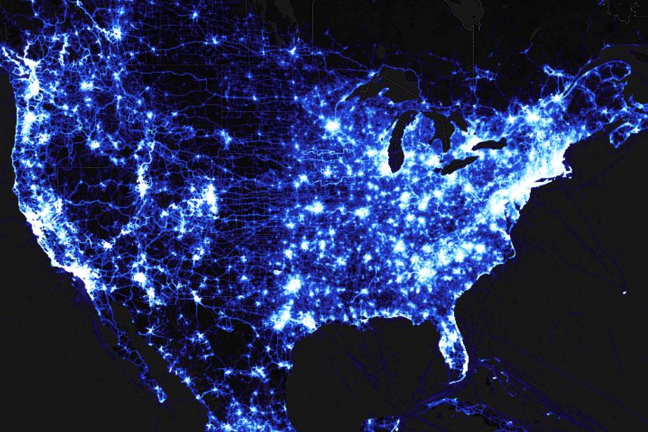 strava heatmap united states blue