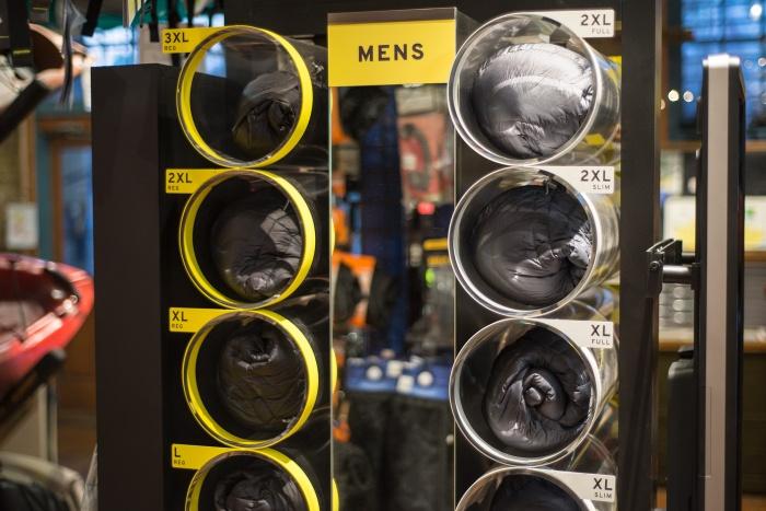 custom coat kiosk size samples