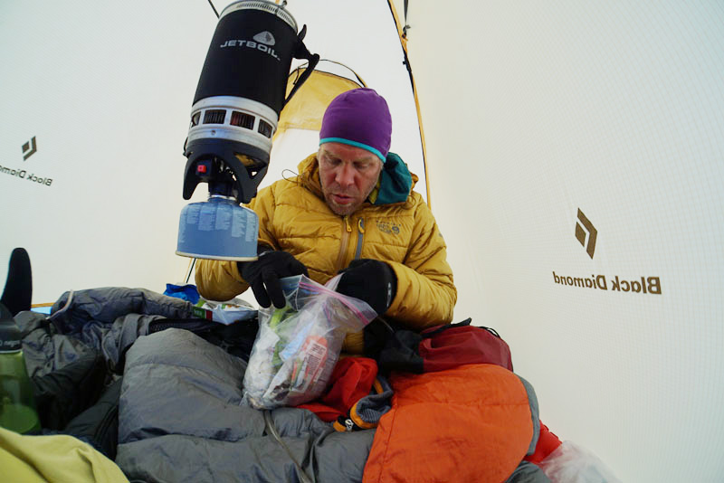cooking with gas in tent