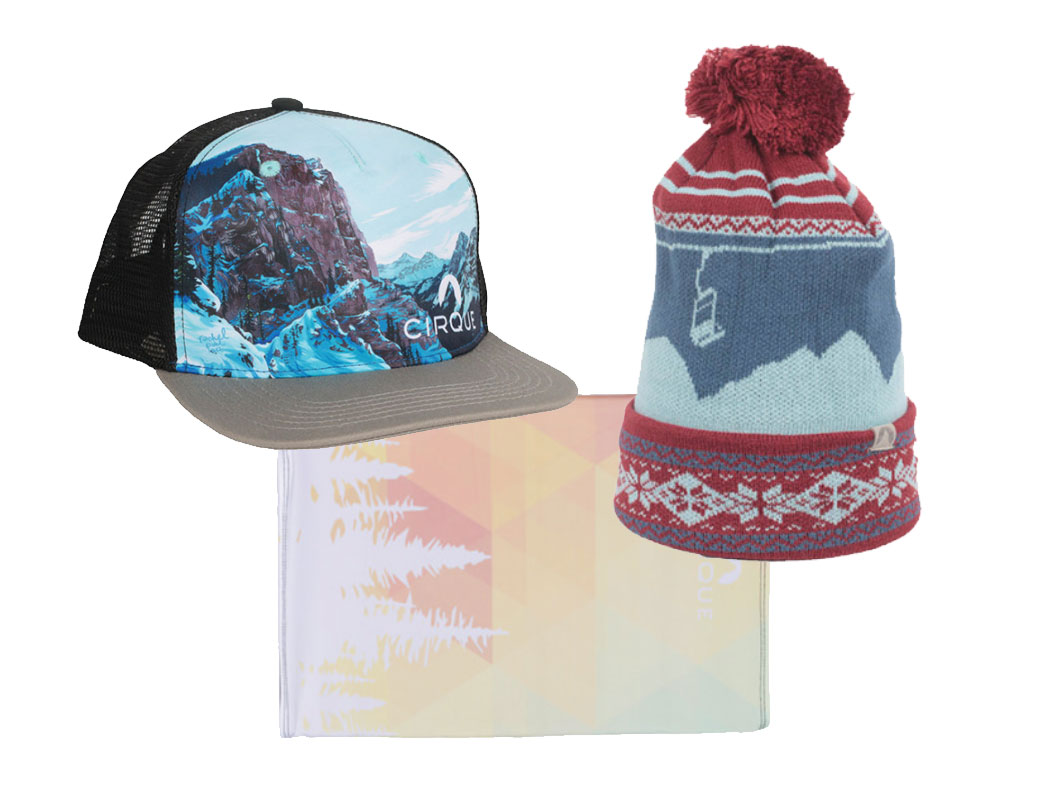 Cirque Hat, Beanie, and Facemask