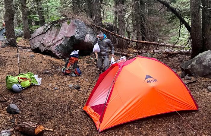 msr advance pro 2 tent woods