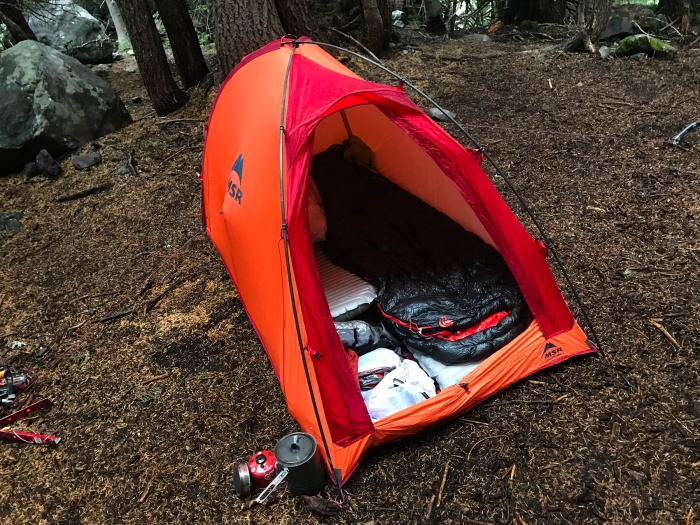 msr advance pro 2 tent open