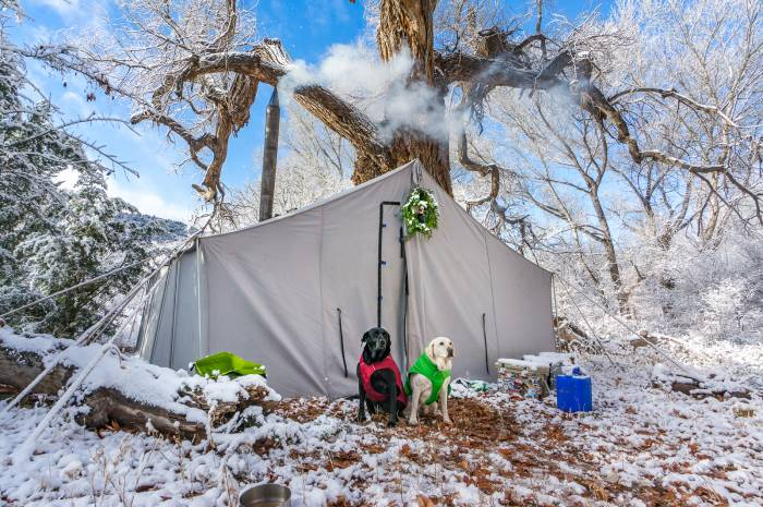 Outdoors Geek Rental Tent, Winter Camping in New Mexico