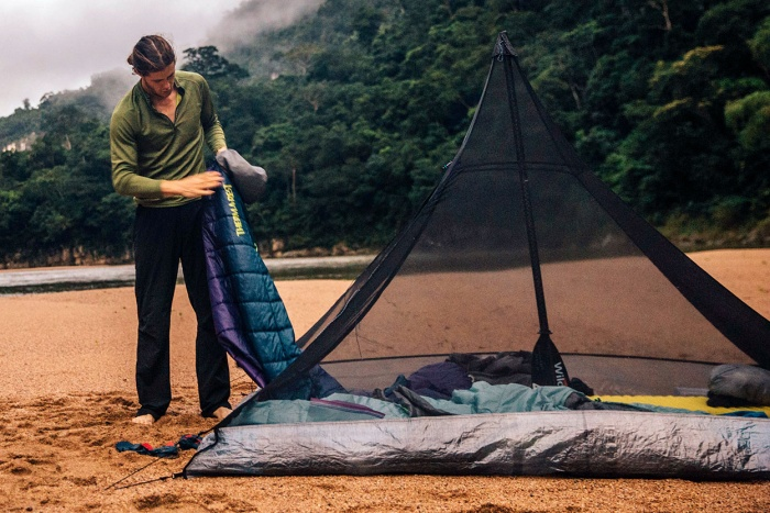 review: ultralight hyperlite mountain gear ultamid 2 tent mesh insert setup
