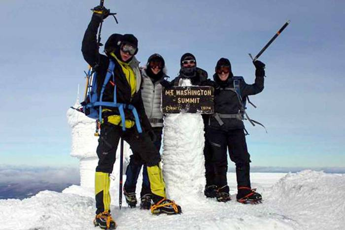 winter climb mount washington