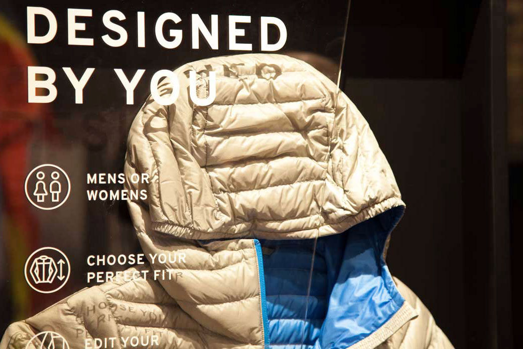 custom puffy jacket kiosk