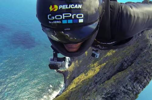 go pro pov wingsuit crash