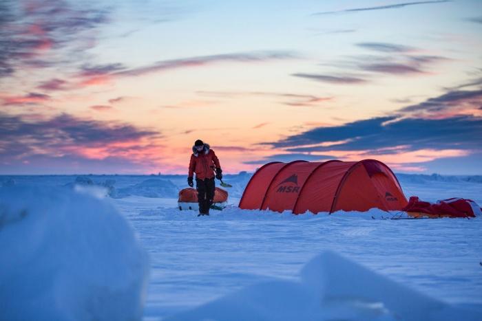 msr tent lake winnipeg polar expolration eric larsen