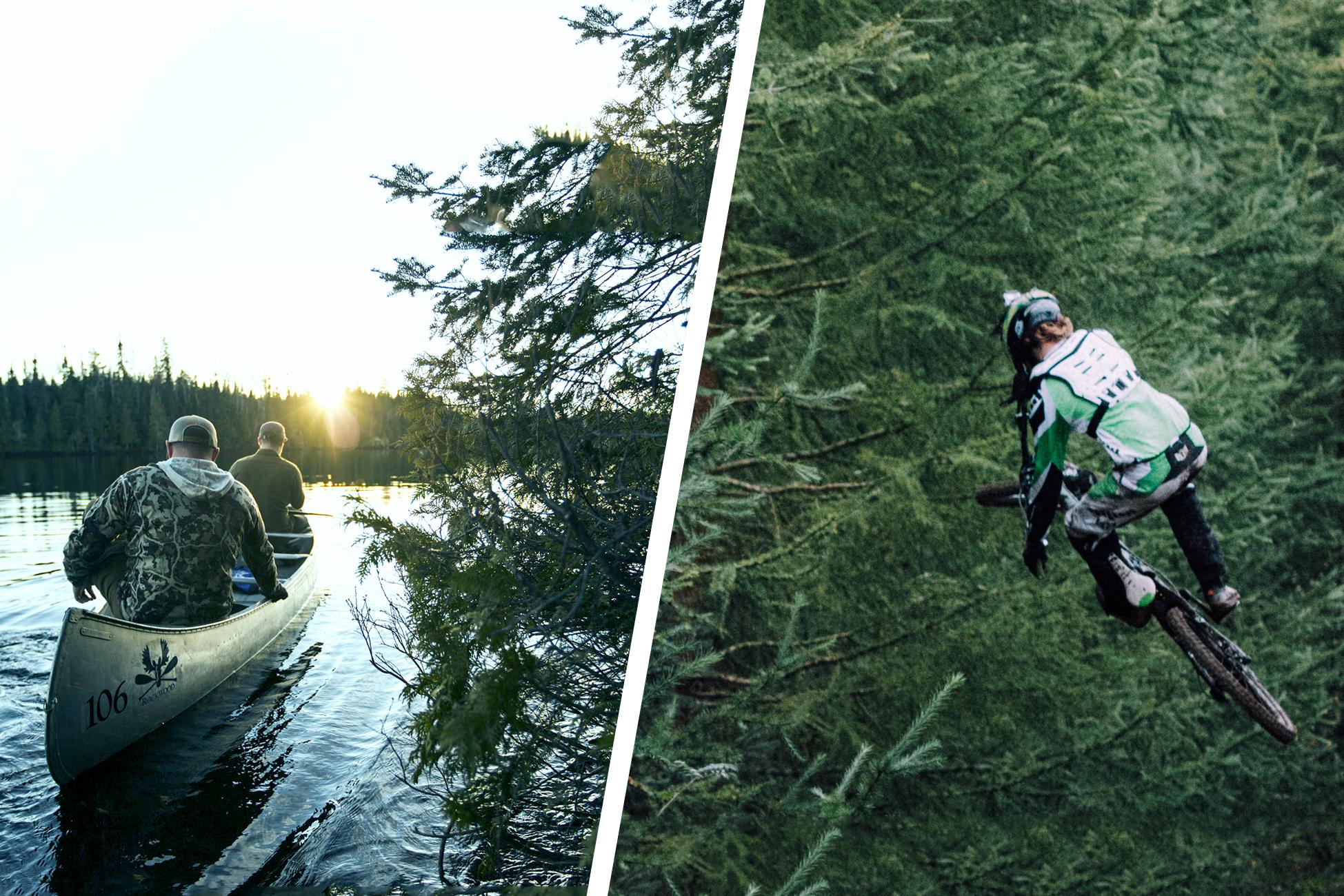 wilderness area mtb canoe