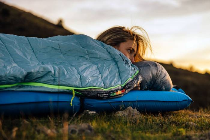 therm-a-rest space cowboy woman sleeping bag