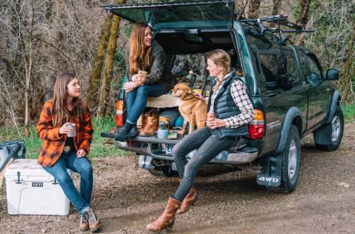 wylder women camping adventure