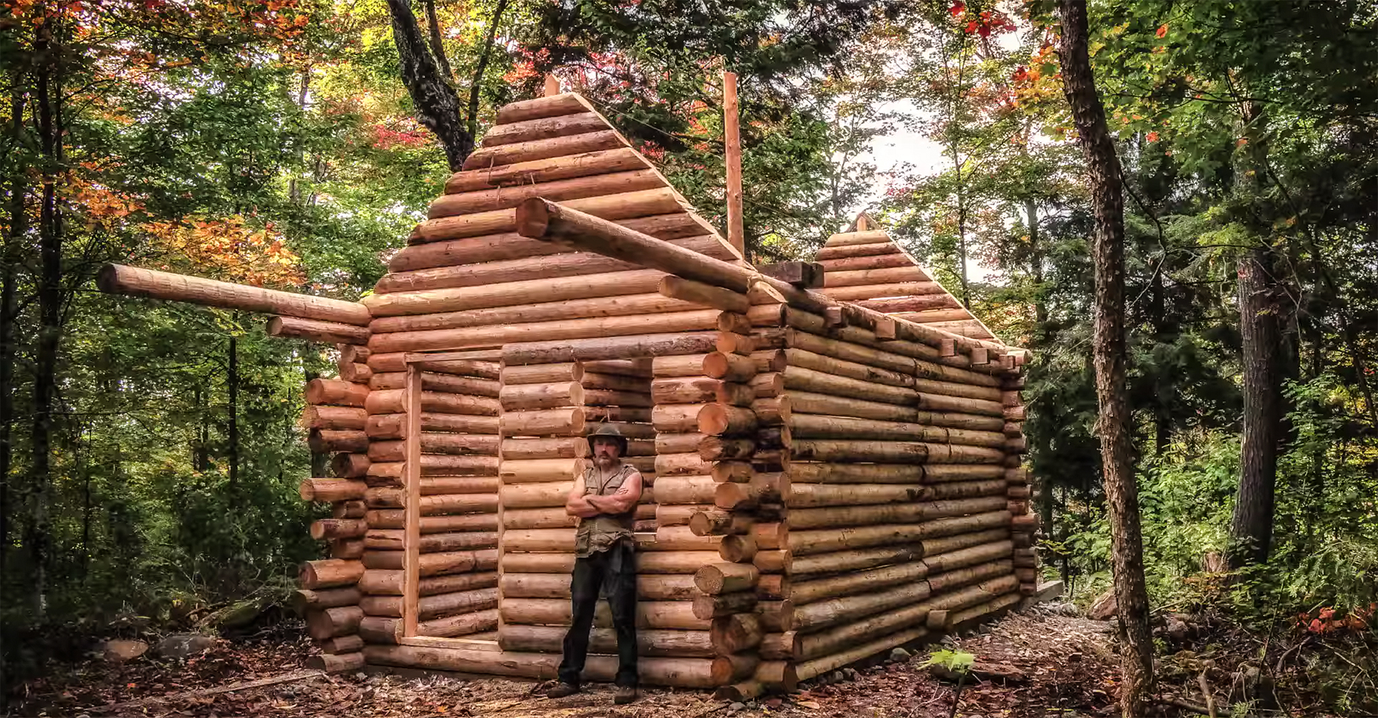 Timelapse Log Cabin Built By Hand Gearjunkie