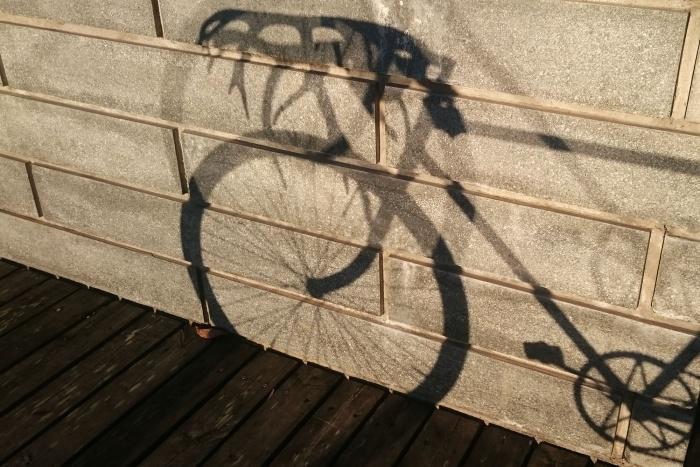 antler bike shadow