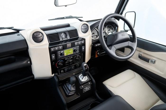 land rover defender works v8 interior dash