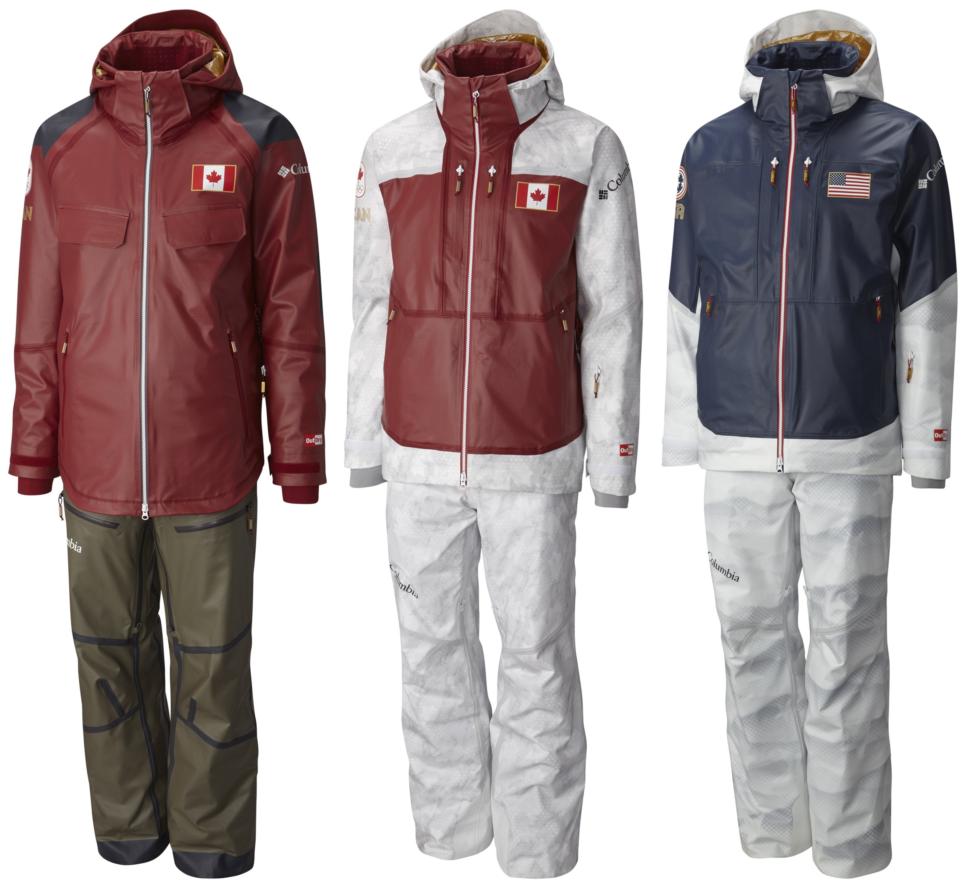 4067b4986 Lined With Gold: Columbia Unveils Olympic Ski Uniforms   GearJunkie