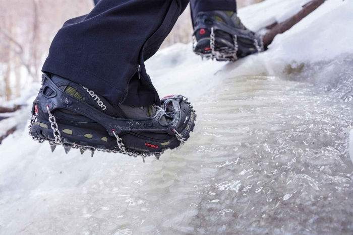 Kahtoola MICROSpikes can grip serious ice
