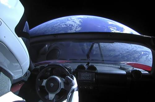 starman tesla earth orbit