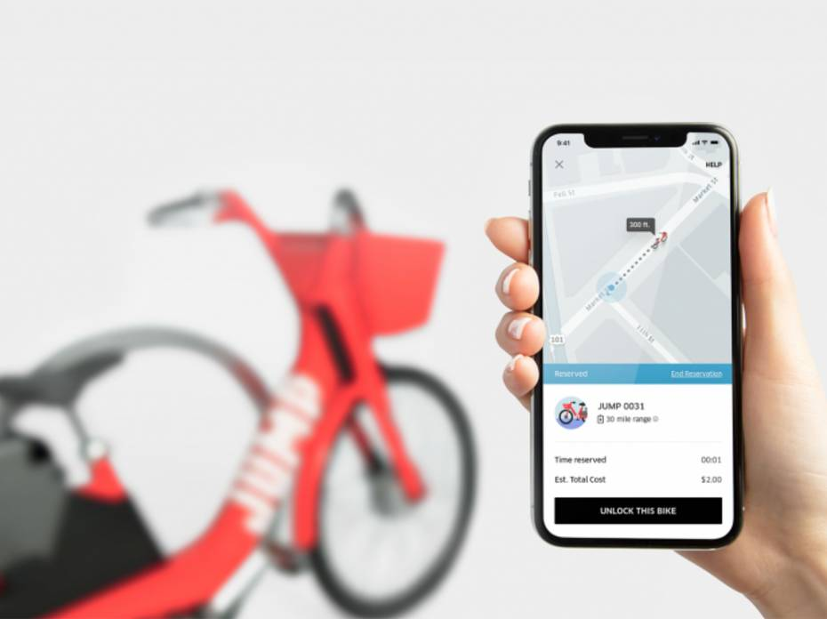 Uber bike with JUMP ebikes bike-share program