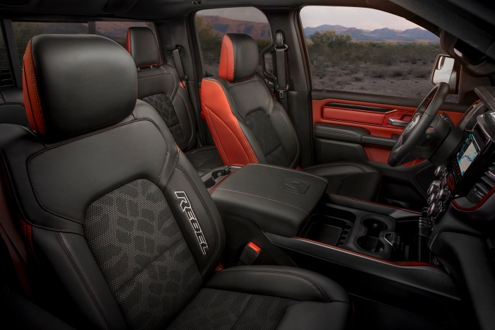 2019 dodge ram 1500 rebel interior