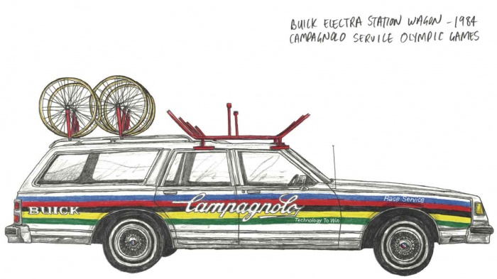 Buick Electra Station Wagon campagnolo bicycles olympics