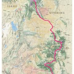 Merrell Find Your FKT CDT Trail Map