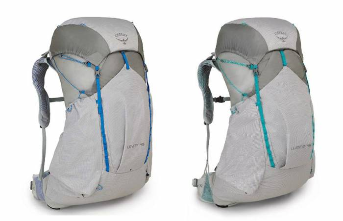 Osprey Levity and Lumina backpacks