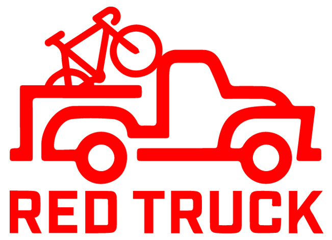 red truck bike logo