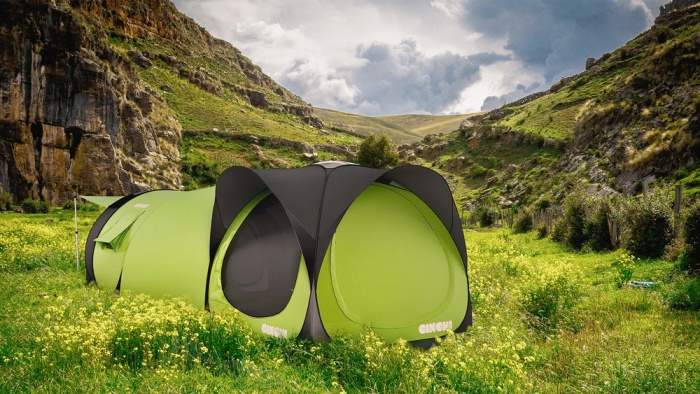 cinch tent daytime