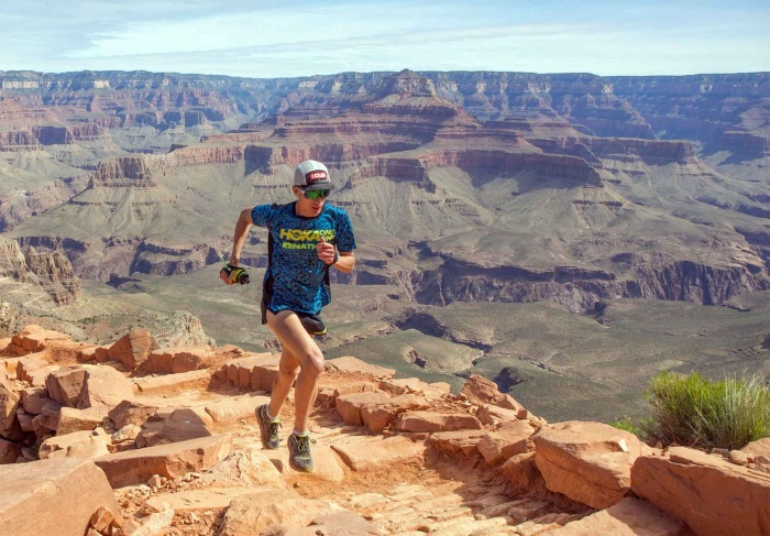 Jim Walmsley setting an FKT in the Grand Canyon