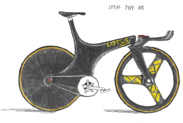 Lotus Type 108 bike illustration