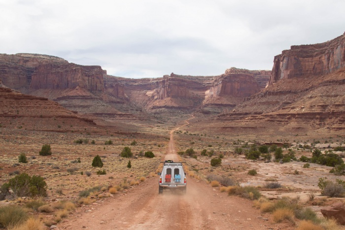 pop-up camper truck canyon