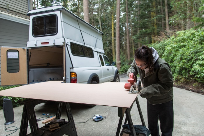 pop-up camper building