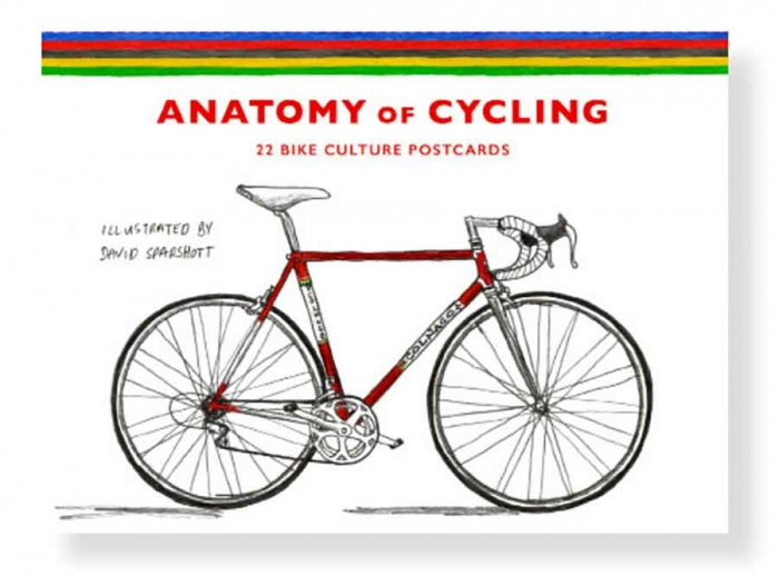 anatomy of cycling book illustration retro