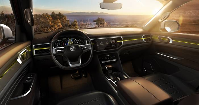 vw atlas tanorak pickup truck concept interior