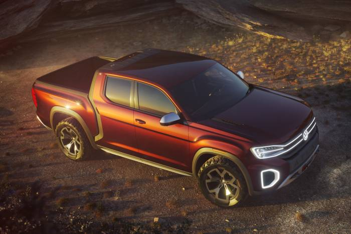 vw atlas tanorak pickup truck concept