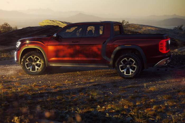 vw atlas tanoak profile pickup