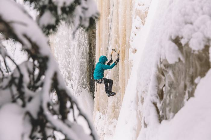 spring ice climbing
