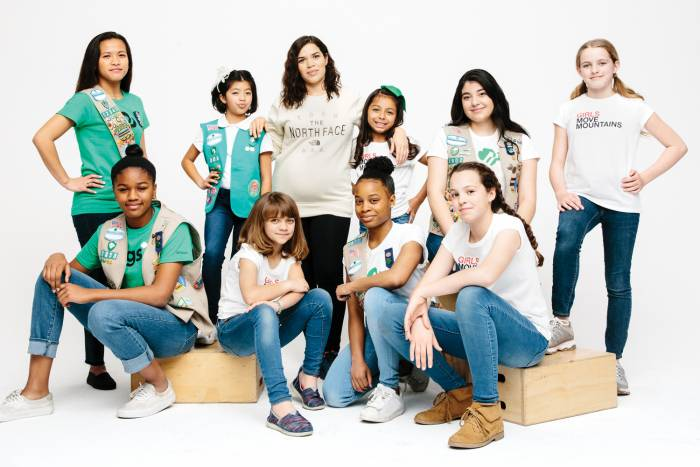 America Ferrara with Girls Scouts of the USA