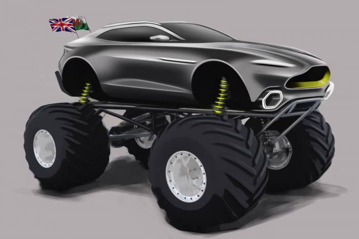 aston martin project sparta monster truck
