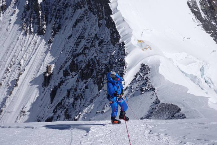 Adrian Ballinger climbing
