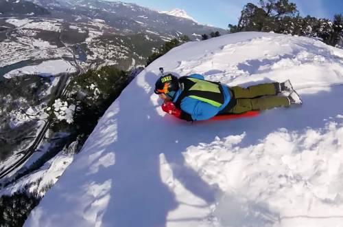 biggest toboggan jump ever