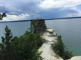 Pictured rocks lakeshore trail Michigan