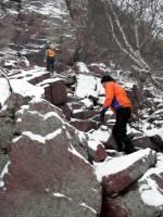 Devils Lake segment in winter