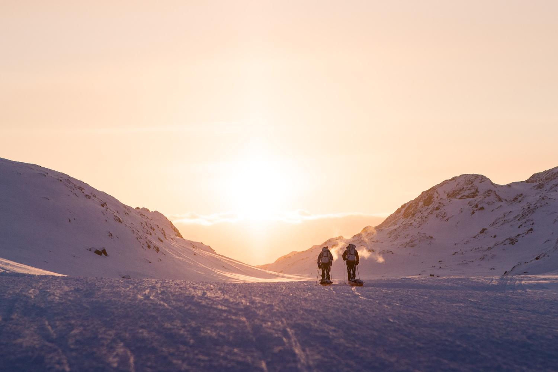 skiers greenland