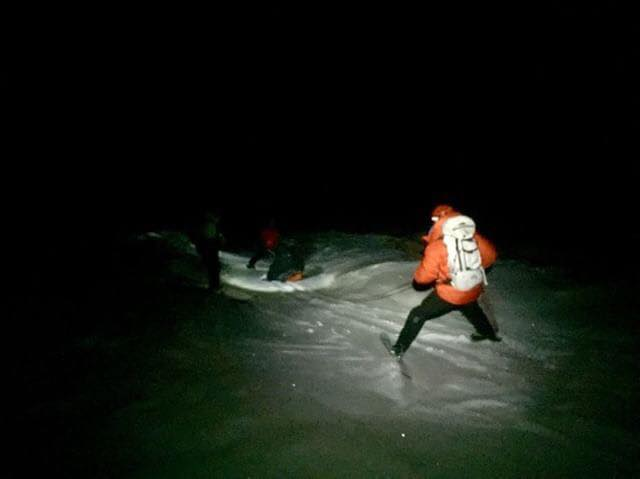Backcountry ski accident