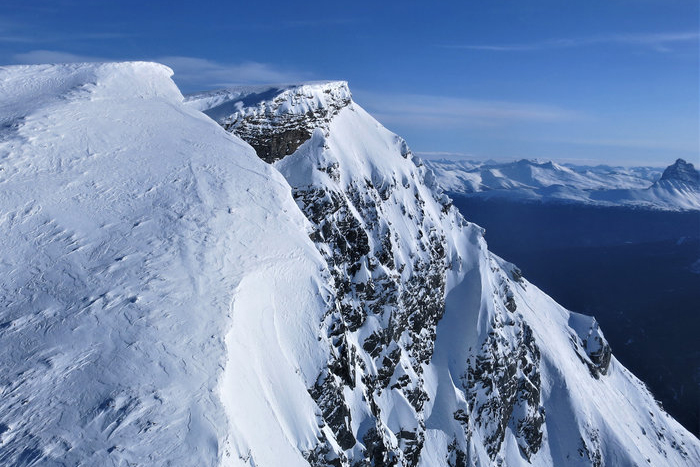 Two summit plateaus of Jeanette Peak in British Columbia