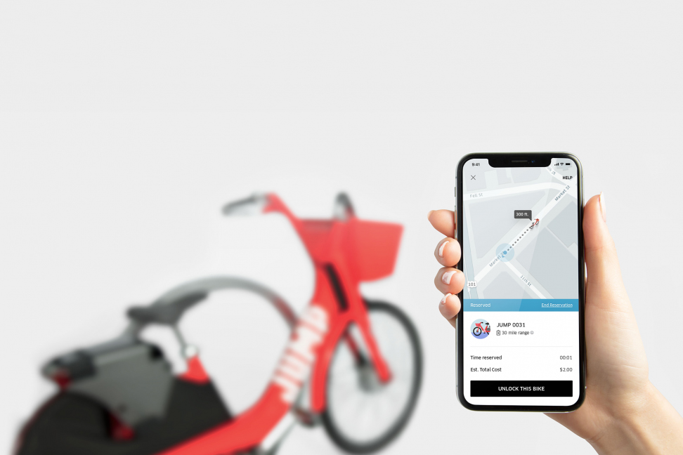Uber buys dockless bike-share company Jump